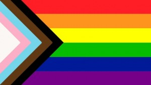 Black and Brown Solidarity Rainbow Flag