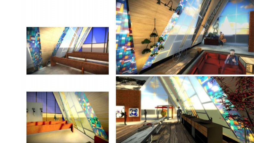 Arch 22A - Rendering & Delineation - Interior Rendering of Before / After Design